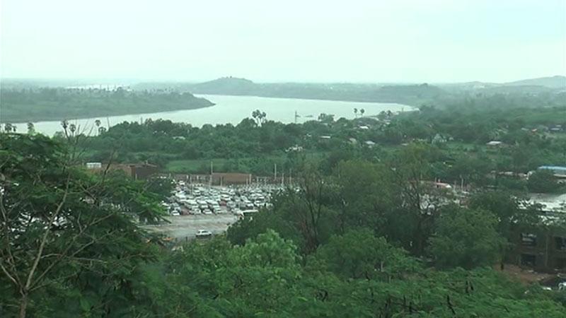 Universal rainfall in Narmada district gujarat