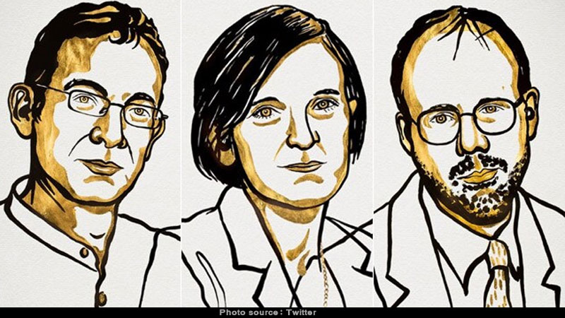 nobel prize for economics awarded to abhijit banerjee esther duflo and michael kremer