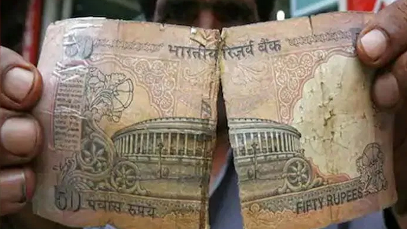 according to rbi notification you can change broken burnt and torn notes from any bank