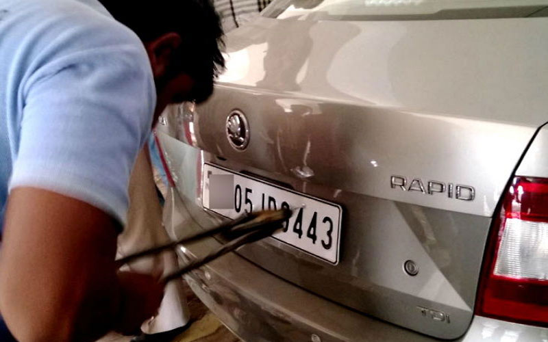 august will not register without high security number plate
