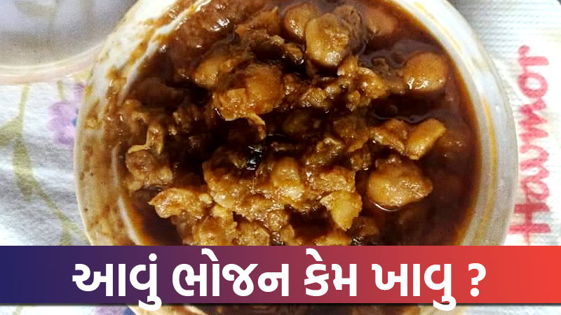 Insect found in food of a hocco restaurant in ahmedabad