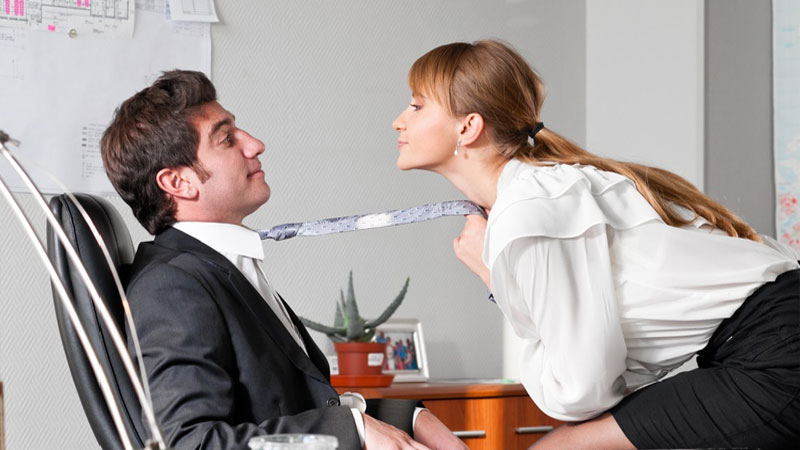 people interested to be physical with their colleague in office