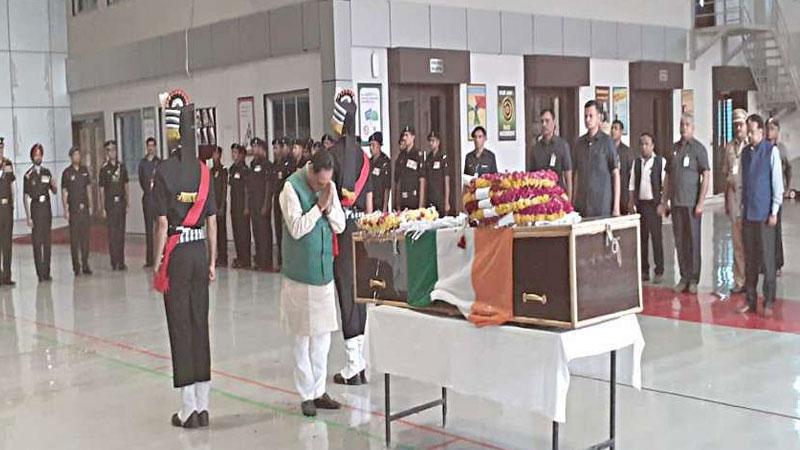 CM rupani condelance to martyr Sipahi Pravinji