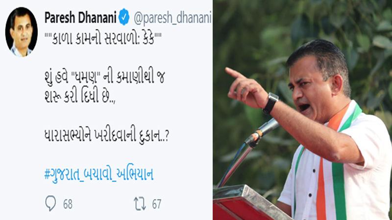 paresh dhanani gujarat government dhaman congress leader mla resign