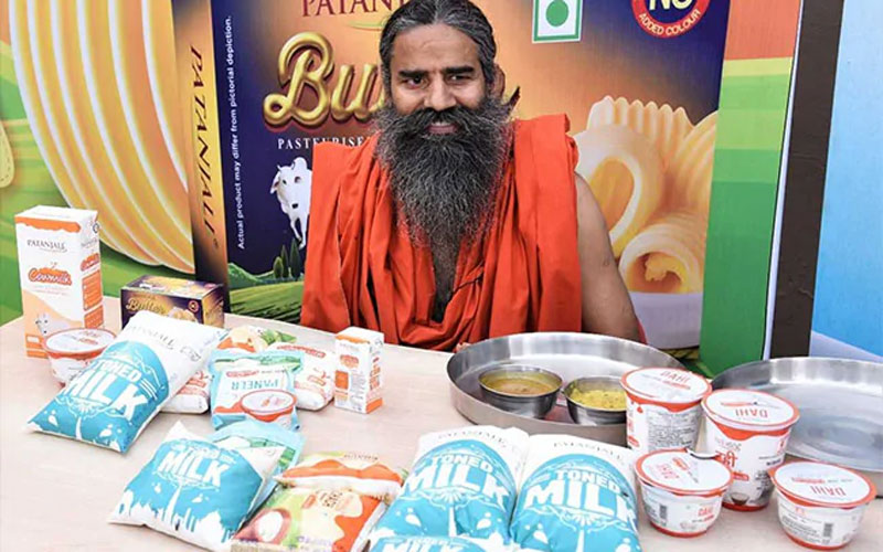Patanjali launches toned cow milk