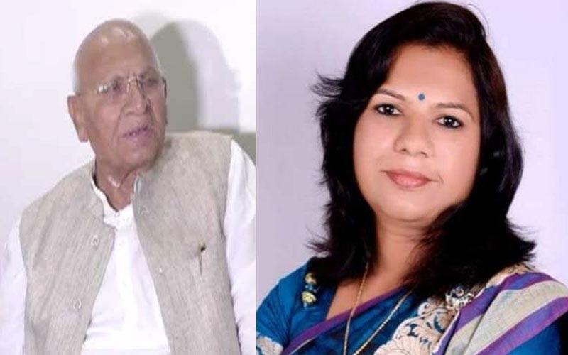 Former MLA Narayan Patel MLA Asha Patel Mehsana BJP office