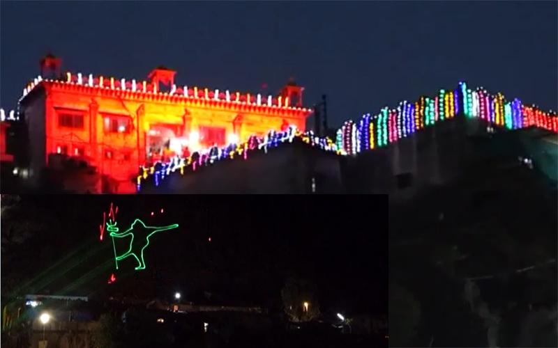 યાત્રાધામ પાવાગઢમાં નવરાત્રી નિમિત્તે રાજ્ય સરકાર દ્વારા શરૂ કરાયો લેસર શો  શક્તિપીઠના ઉદય...