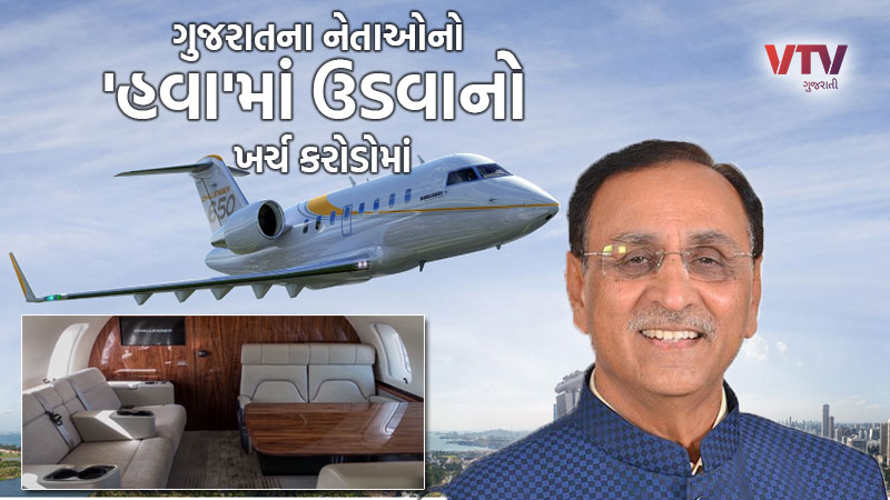 Budget session Gujarat Govt spend crores in plan and helicopter