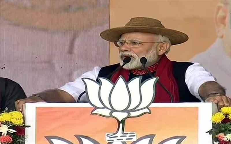 manifesto of lies hypocrisy says pm modi rips into congress