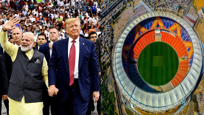 Donald Trump visit motera stadium Gujarat district wise colour code