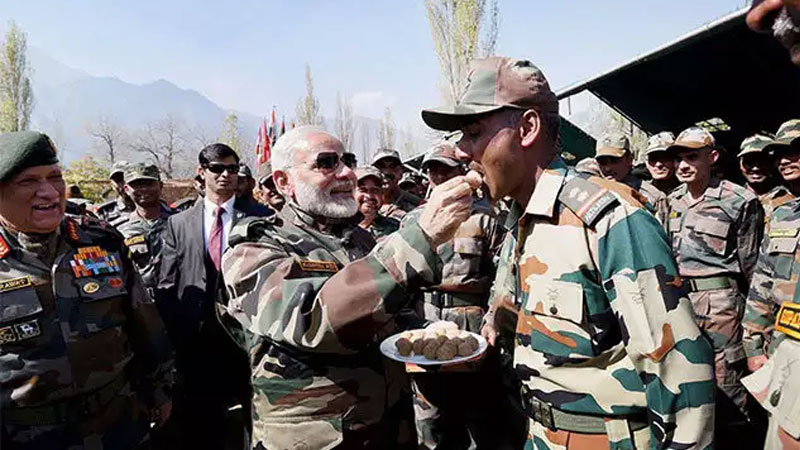 PM Modi likely to visit LoC in jammu Kashmir on Diwali