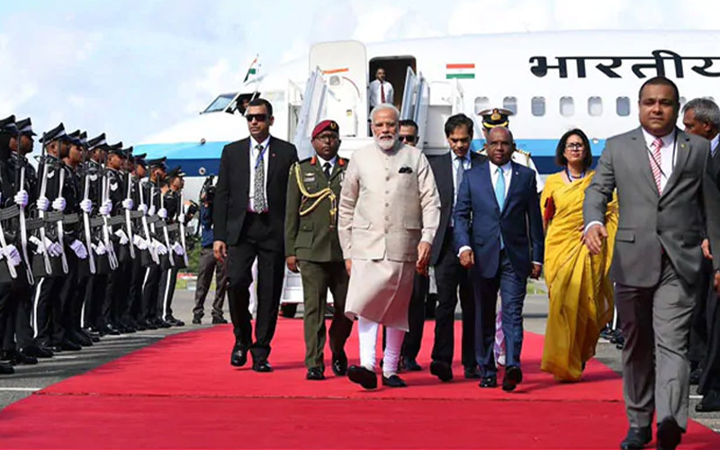 PM Modi reaches in Maldives for first trip