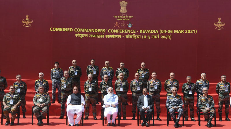 pm modi conveyed appreciation india armed forces commanders conference kevadia