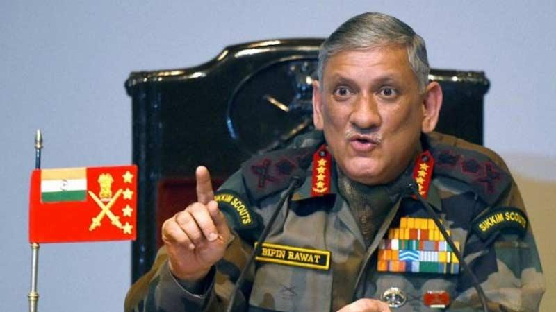 PoK pakistan terrorists army chief general bipin rawat