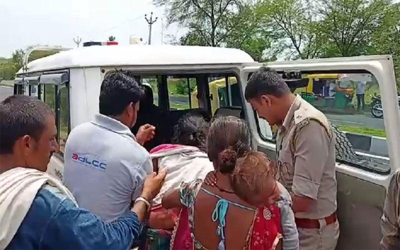 DySP help injured women hospital Gujarat police