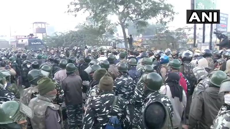 delhi police farmer protest stadium temporary jails government permission