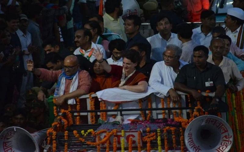 Priyanka Gandhi Road Show Varanasi