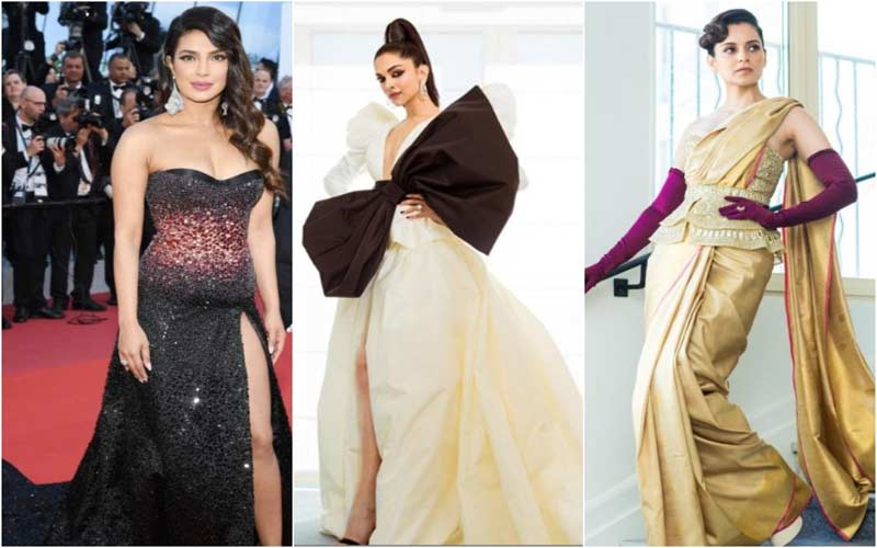 deepika kangana and priyanka looks for cannes film festival 2019