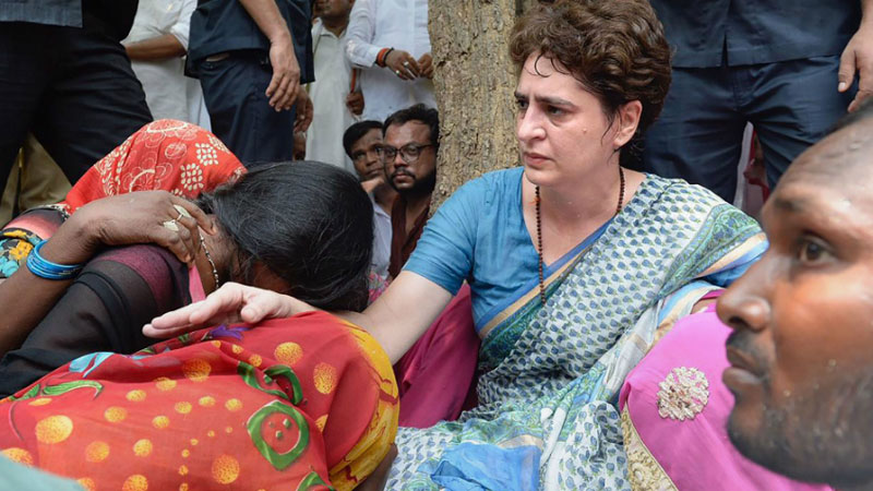 priyanka gandhi to visit victim of violence at umbha in sonbhadra
