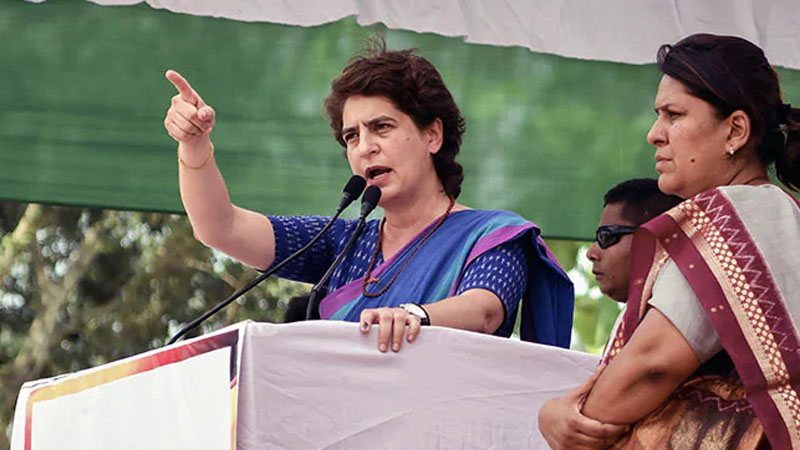 bjp should first pursue path of truth and then talk about mahatma gandhi priyanka gandhi