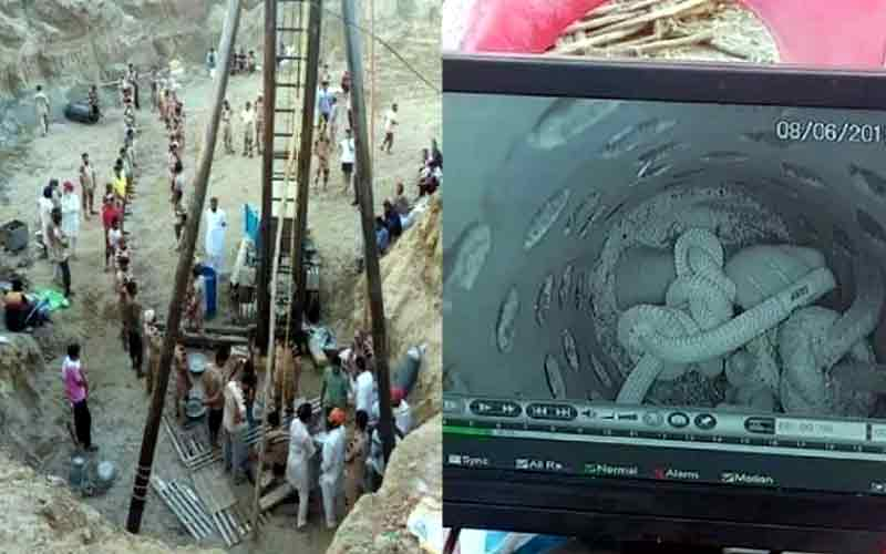 3-year-old stuck in Punjab borewell for over 110 hours rescued
