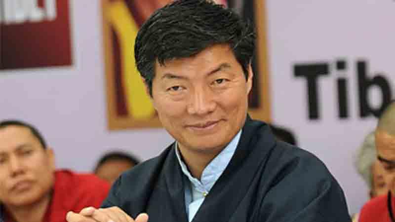 tibetan pm pays tribute to sushma swaraj gujarat