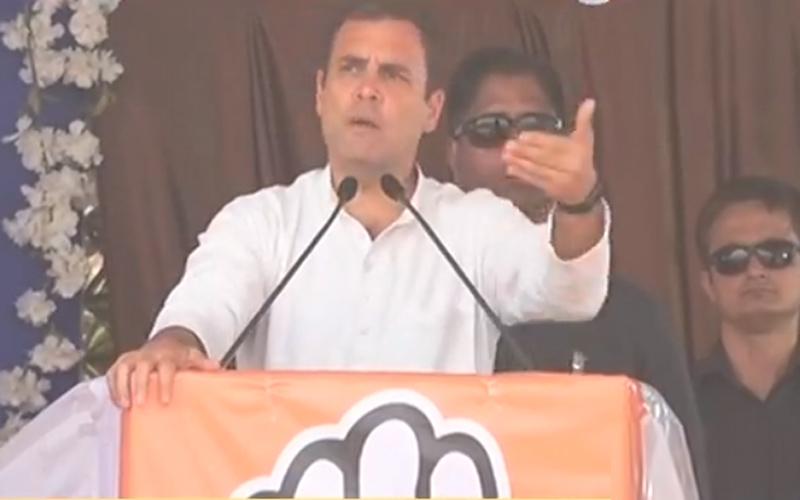 મહુવામાં રાહુલ ગાંધીનું જાહેર સભાને સંબોધન, કહ્યું- 'કોંગ્રેસ સરકાર આવશે તો બે બજેટ'