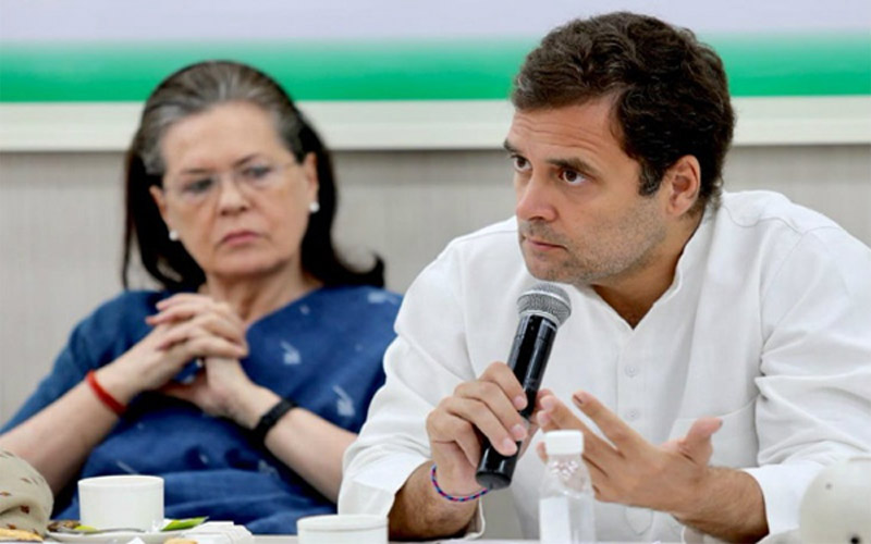 Rahul Gandhi blames party trio of placing sons before party congress