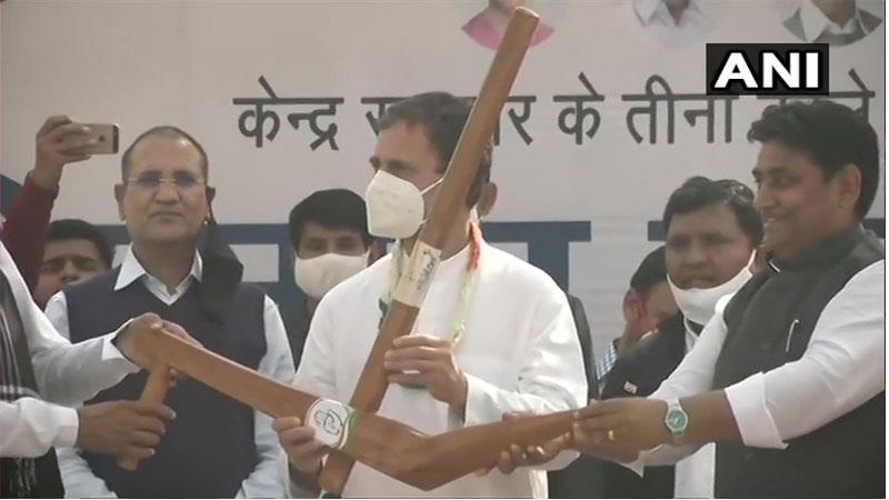 rahul address to farmers meeting in pilibanga of hunumangarh
