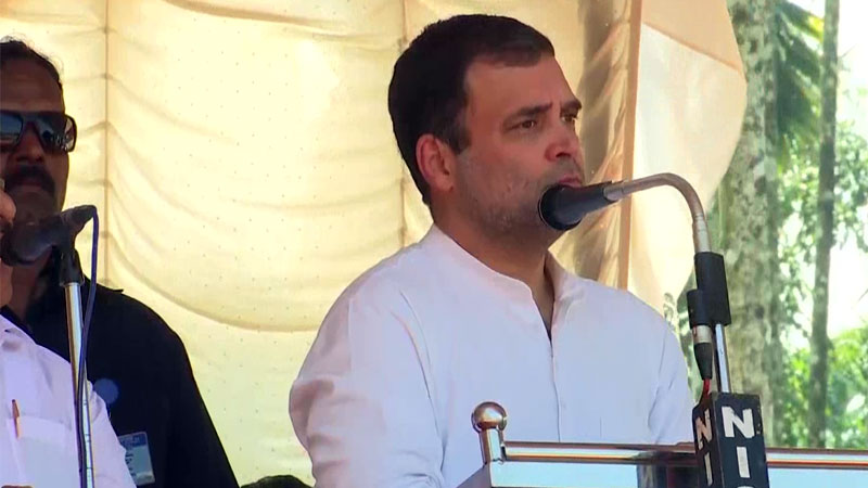 Godse and PM believe in same ideology Rahul attacks Modi