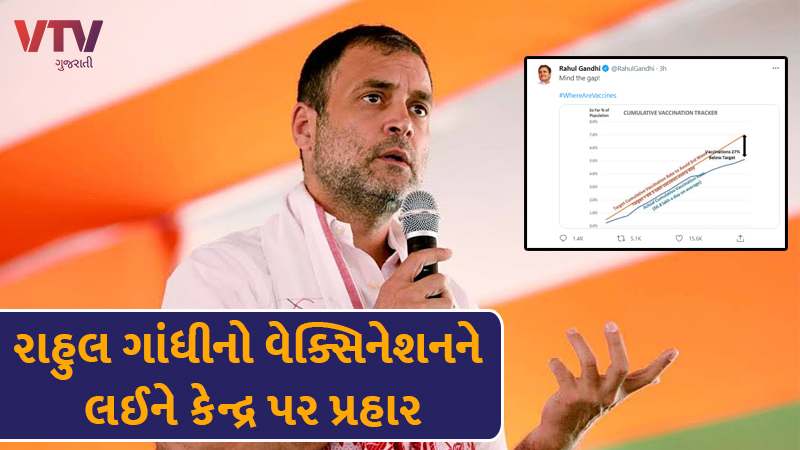rahul gandhi again targeted central government over covid 19 vaccination rate