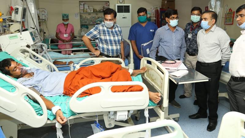 poisonous gas leaked shakti papers industry raipur chhattisgarh