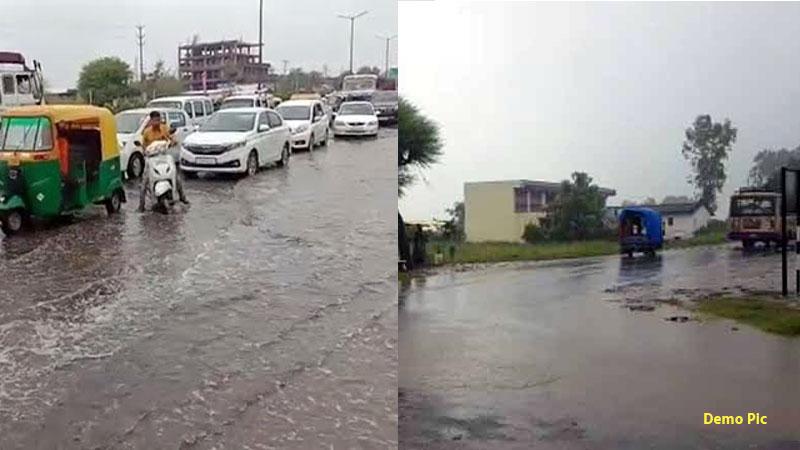 heavy rain in aravalli district gujarat