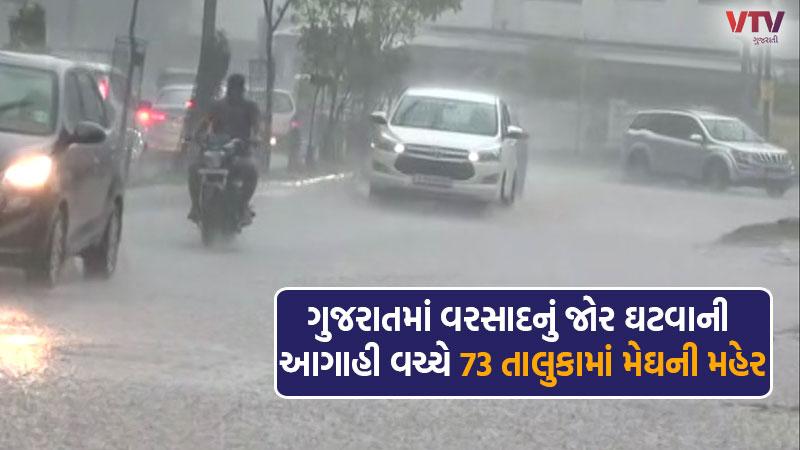 Rains in 73 talukas of Gujarat