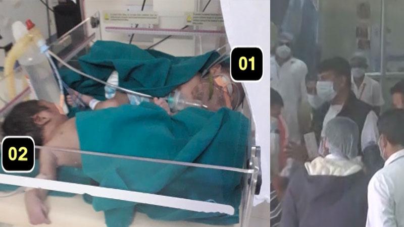 rajkot civil hospital congress leader amit chavda visit