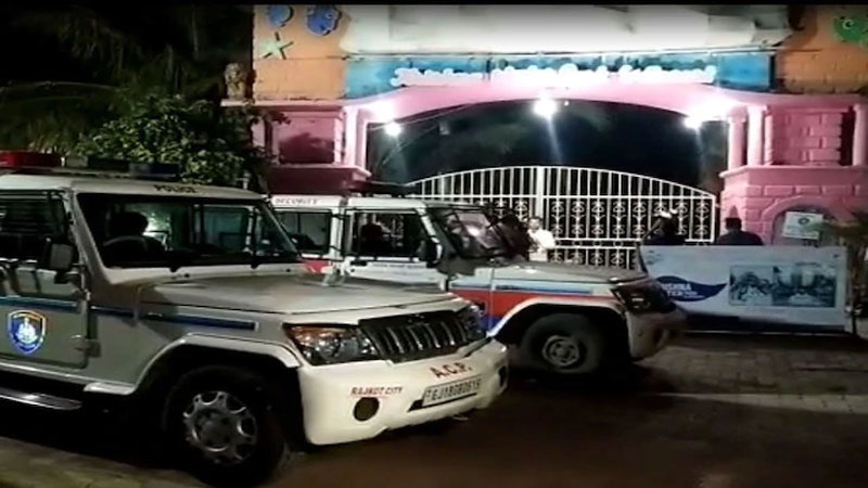 rajkot krishna water park police raid sog officers alcohol party who was drunk