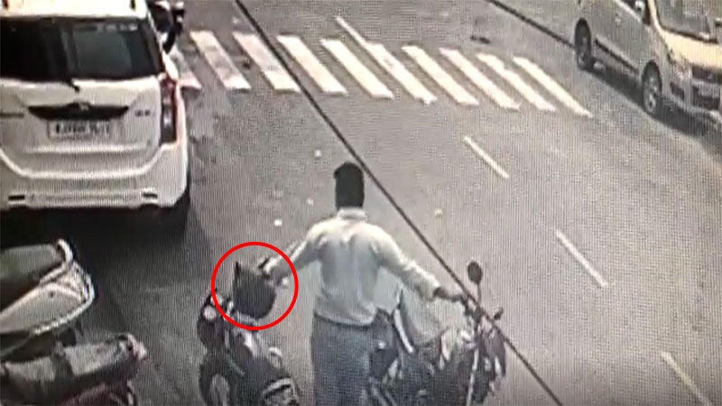 helmet theft in rajkot due to new traffic rules gujarat