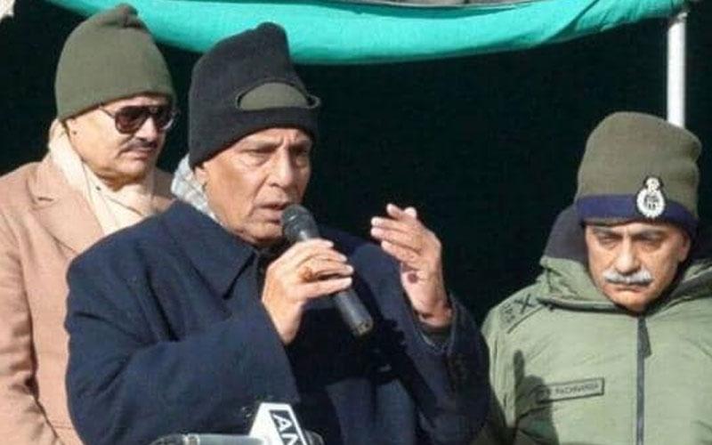 defense minister rajnath singh to visit siachen srinagar pakistan anti terror operations