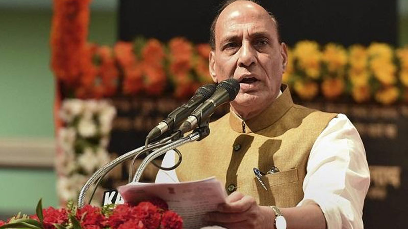 rajnath singh said if talks are held with pak it will now be on pok