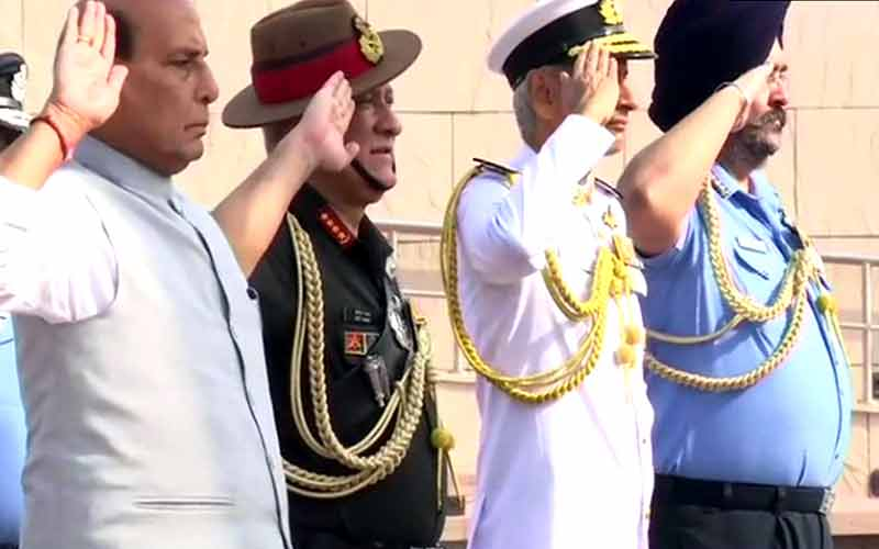 Rajnath Singh Visits War Memorial Before Taking Over As Defence Minister