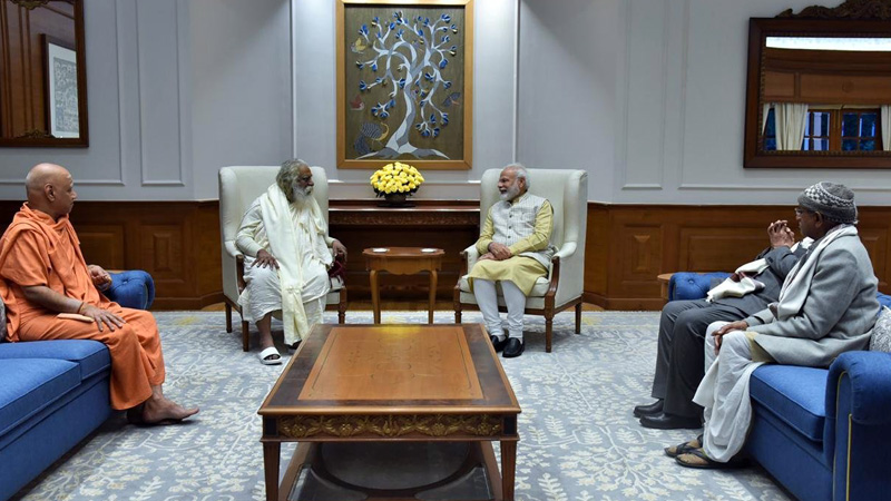 Ram Mandir Trust members meet PM Modi invite him to visit Ayodhya