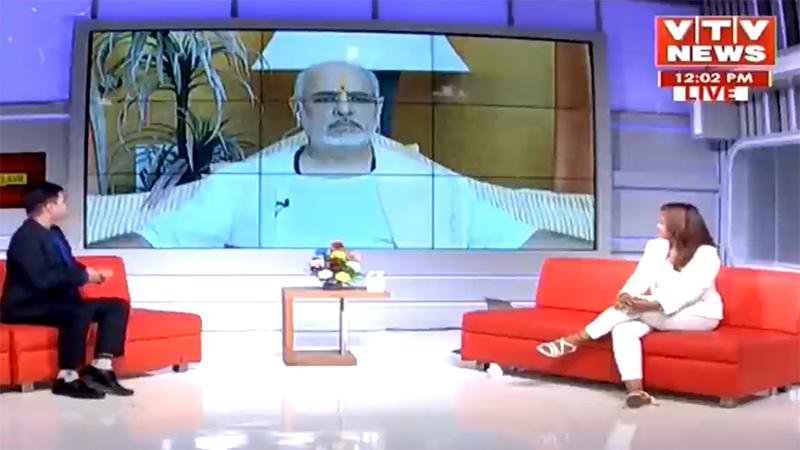 VTV News mahamanthan e- conclave on dharma with Ramesh oza