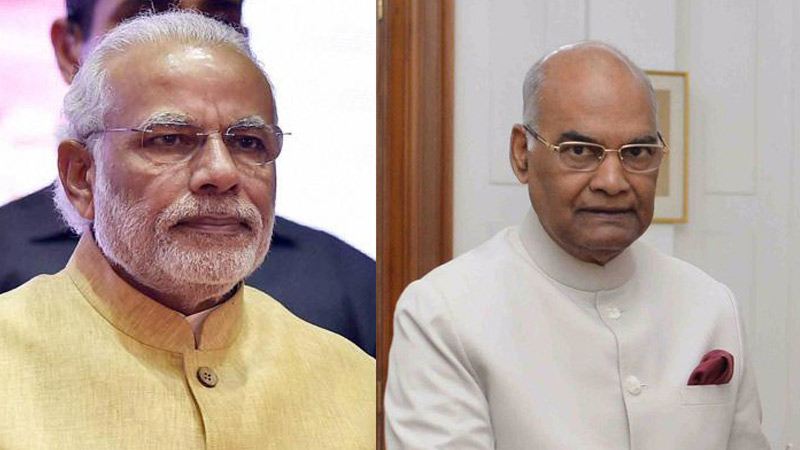 president ramnath kovind and pm modi wish diwali