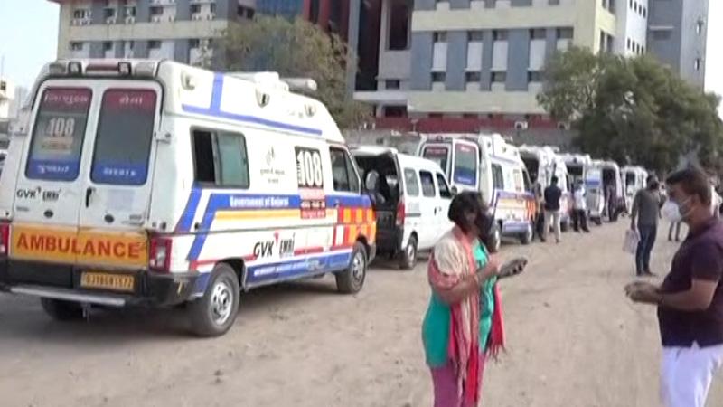 coronavirus in Gujarat Rajkot covid hospital bad full