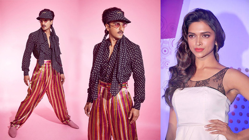 Ranveer sinh trolled on twitter for wearing polka dotted clothes similar to that of deepika padukone
