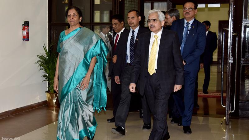 rbi governor shaktikanta das fm nirmala sitharaman post budget meeting central board of directors gdp economic survey...