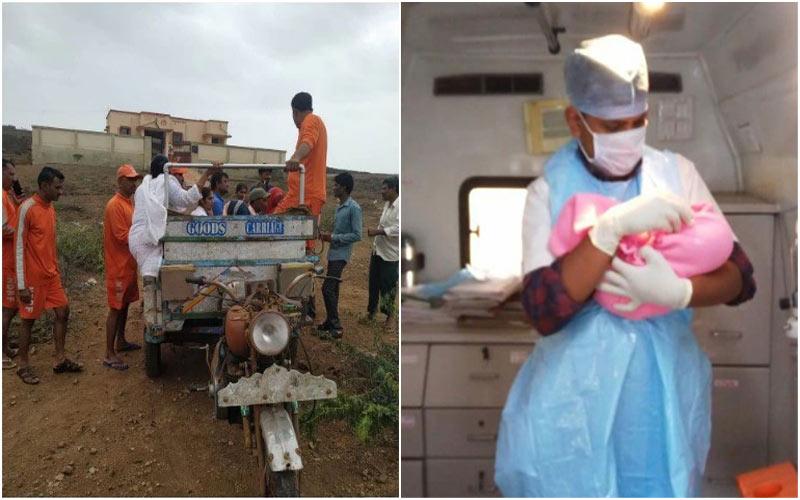 108 team rescues pregnant woman from shiyal bet Gujarat coast Vayu Cyclone