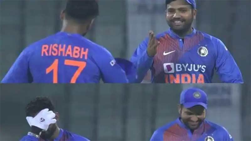 rishabh pant ms dhoni drs india vs bangladesh lost drs review delhi 1st t20i
