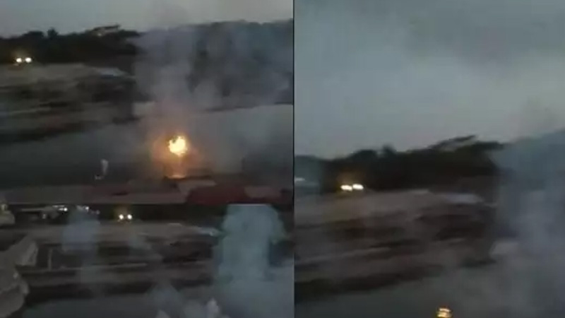 explosion in shipra river water jumped 10 feet after explosion in shipra river fire also out panic in area