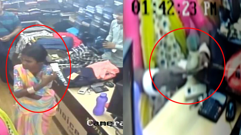 CCTV : See This theft of the thief how fast it is